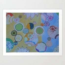 Circle Around Art Print