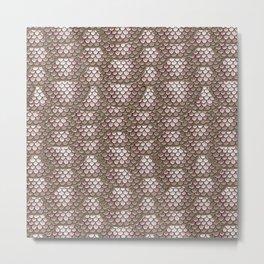 Brown Snake Skin Pattern Metal Print