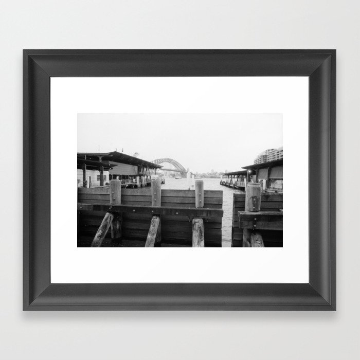 Water barrier Framed Art Print