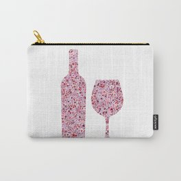 Wine Floral Watercolor Carry-All Pouch