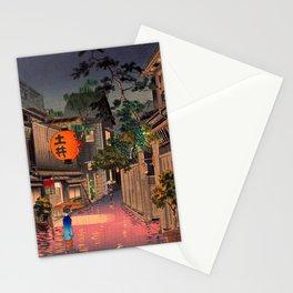 Tsuchiya Koitsu - Evening at Ushigome - Japanese Vintage Woodblock Painting Stationery Cards