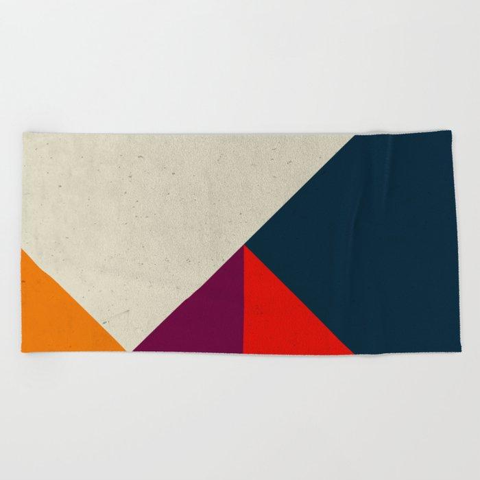 Geometric abstract Beach Towel