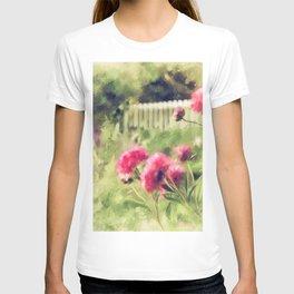 Pink Peonies In A Vintage Garden T-shirt