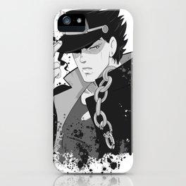 Jotaro ink iPhone Case