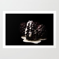 creamed berries Art Print