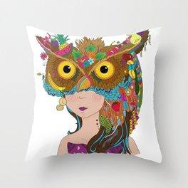 Strigidae - Masquerade Collection Throw Pillow
