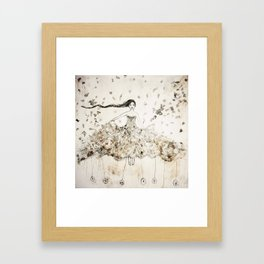 the thoughts are free Framed Art Print