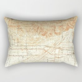 Azusa, CA from 1939 Vintage Map - High Quality Rectangular Pillow