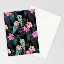 Island Goddess Tropical Black Stationery Cards