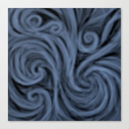 dark blue swirl Canvas Print