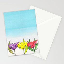 """""""Oro?"""" Tulips Stationery Cards"""