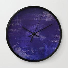 Sheet Music - Mixed Media Partiture #1 Wall Clock