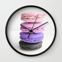 macaroon tower Pink Lavender Slate Wall Clock