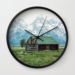 Teton Cabin Wall Clock