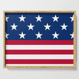 US Flag Serving Tray