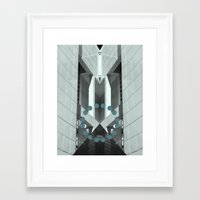 pyramid Framed Art Prints featuring Pyramid by Ubik Designs
