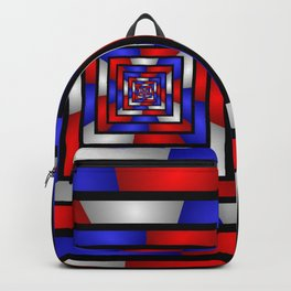 Colorful Tunnel 3 Digital Art Graphic Backpack