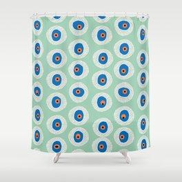 Evil Eye Charm - Hemlock  Shower Curtain