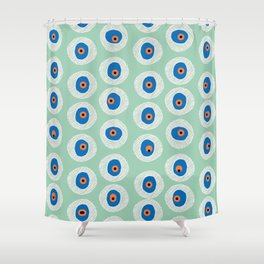 Evil Eye Charm - Hemlock  Shower Curtain