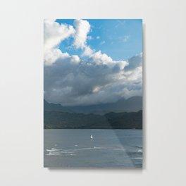 Kauai Hanalei Bay and a Boat Metal Print