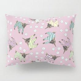 Pajama'd Baby Goats - Pink Pillow Sham