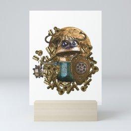 exclusive viking robot Mini Art Print