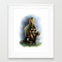 elf Framed Art Prints featuring Elf  by Gilthonniel's Shop