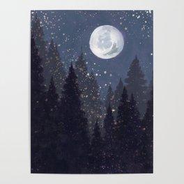 Full Moon Landscape Poster
