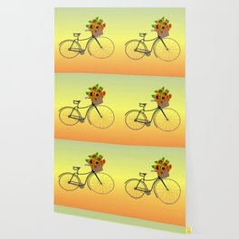 Bicycle Sunflowers Wallpaper