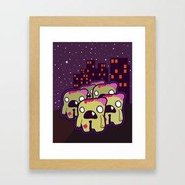 Zombie Invasion Framed Art Print