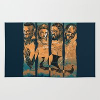 vikings Area & Throw Rugs featuring Vikings by RicoMambo