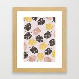 tropical pinks Framed Art Print