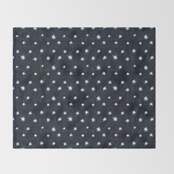 Midnight Starlet Throw Blanket