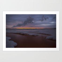 Alviso Lakes Art Print