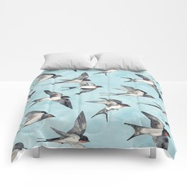 Blue Sky Swallow Flight Comforters