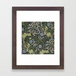 William Morris Seaweed Pattern Framed Art Print