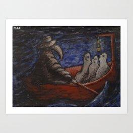 the river styx Art Print