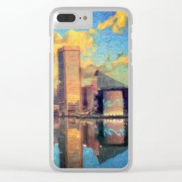 Baltimore Maryland Skyline Clear iPhone Case