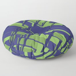 3D Abstract Futuristic Background III Floor Pillow