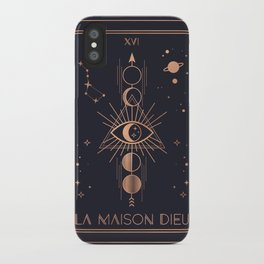 La Maison Dieu or The Tower Tarot iPhone Case