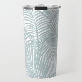 Pastel green modern tropical floral palm tree pattern Travel Mug
