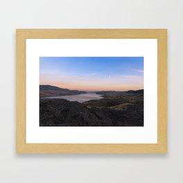 Sunset Over Kamloops Lake Framed Art Print
