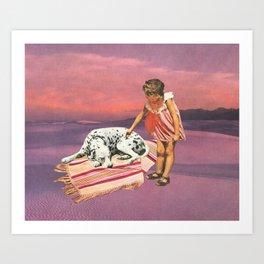 Napping Puppy Art Print