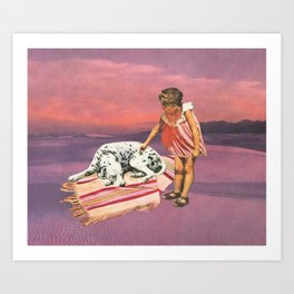 Napping Puppy Art Print