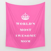mom Wall Tapestries featuring Mom by Beautiful Homes