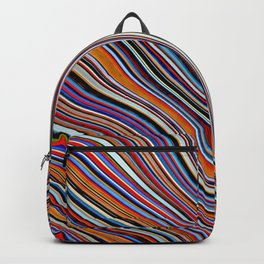 Wild Wavy Lines 10 Backpack
