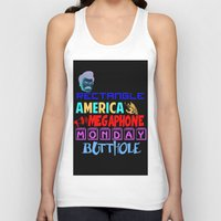 swanson Tank Tops featuring Swanson Text by Alex Dutton