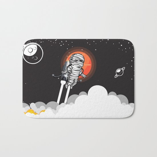 Mummy on Space Journey Bath Mat