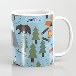 Day at the Lake - Blue Coffee Mug