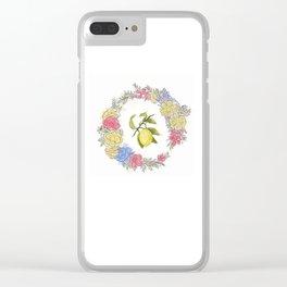 Original Lemon Watercolor Painting, Fruit watercolor;  vita Clear iPhone Case